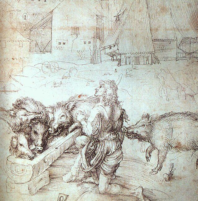 Study for an engraving of the Prodigal Son - Albrecht Durer