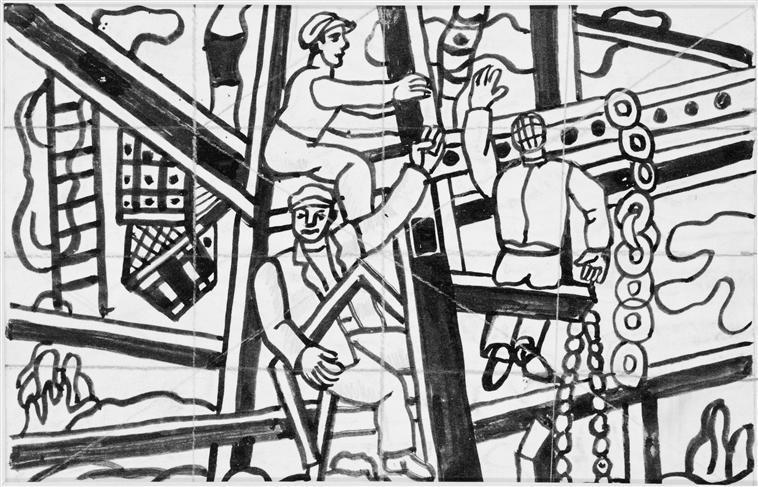 Study for builders  - Fernand Leger