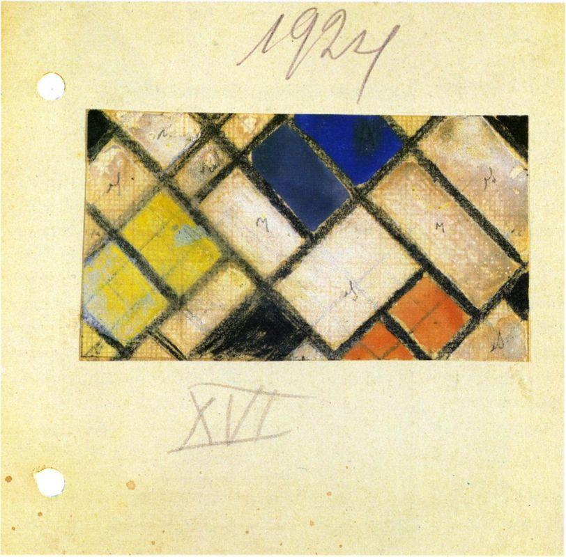 Study for Counter composition XVI - Theo van Doesburg
