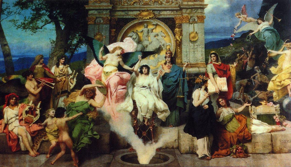 Study for Curtain - Henryk Siemiradzki