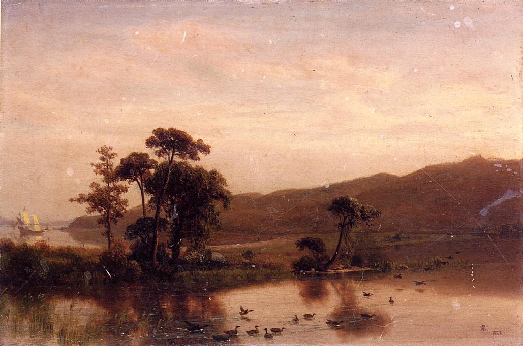 Study for Gosnold at Cuttyhunk - Albert Bierstadt