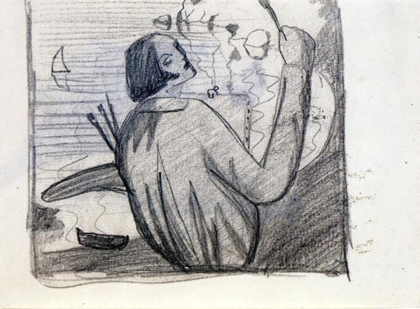 Study for Self-Portrait - Salvador Dali