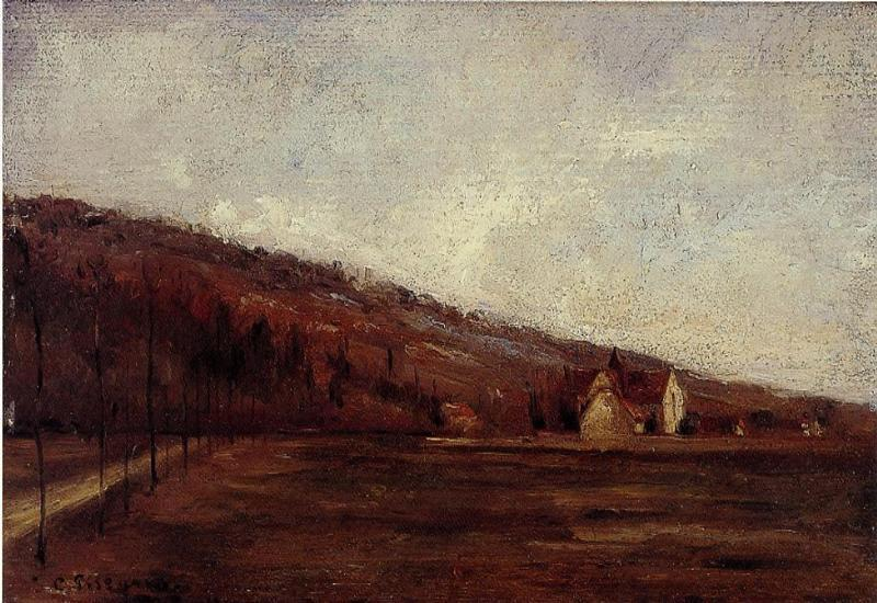 Study for The Banks of Marne in Winter - Camille Pissarro