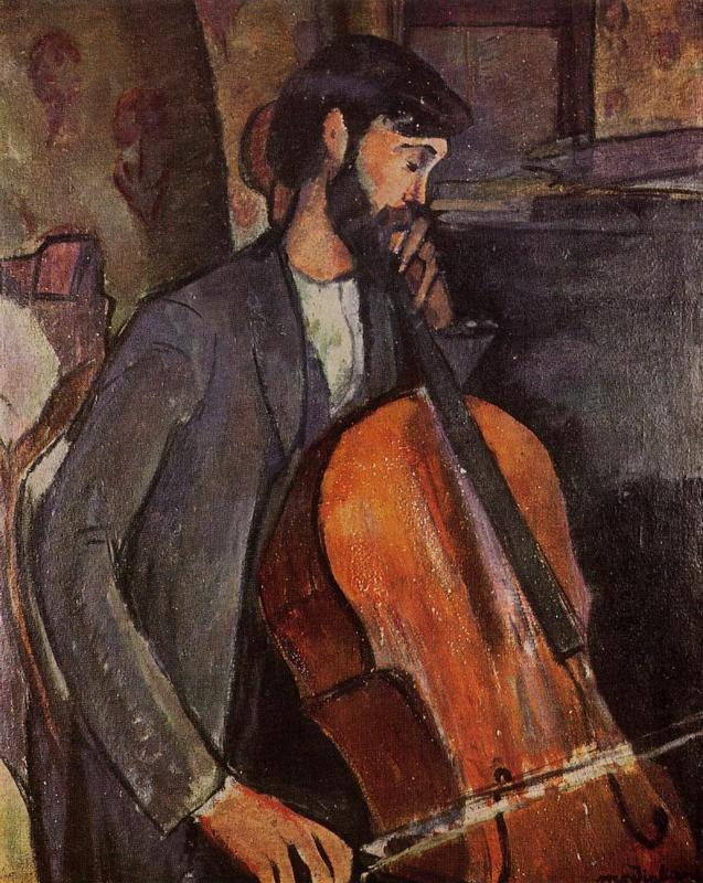 Study for The Cellist - Amedeo Modigliani