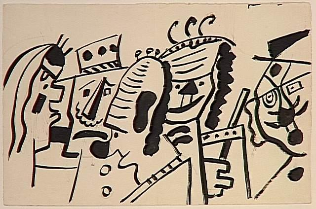 Study for the circus, the clowns  - Fernand Leger