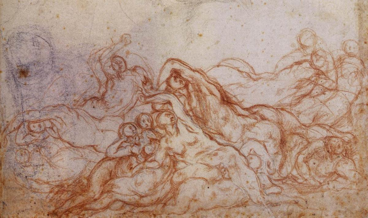 Study for the Deluge - Jacopo Pontormo