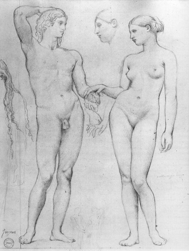 Study for The Golden Age - Jean Auguste Dominique Ingres