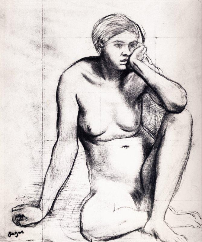 Study for the Medieval War Scene - Edgar Degas