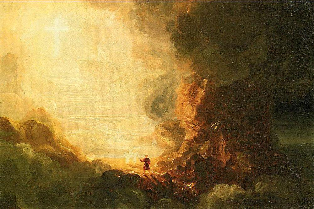 Study for The Pilgrim of the Cross at the End of His Journey - Thomas Cole