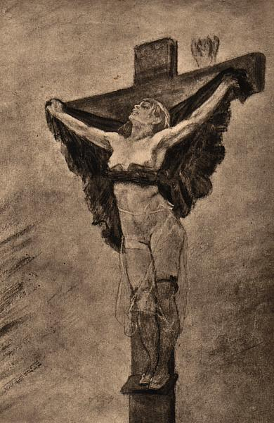 Study for The Temptation of St. Anthony - Felicien Rops