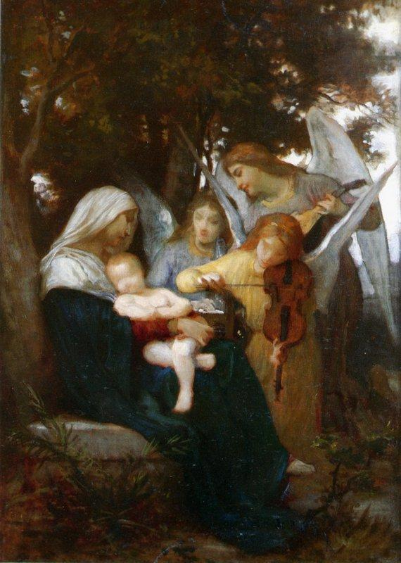 Study for Vierge aux anges - William-Adolphe Bouguereau