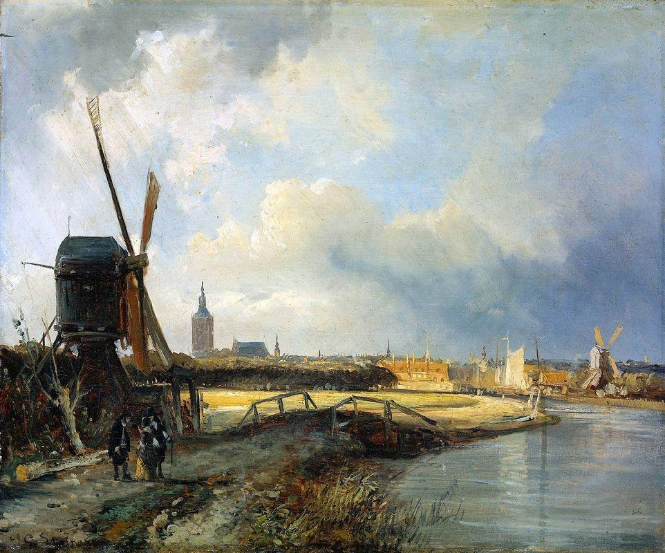 Study for View on Den Haag - Cornelis Springer