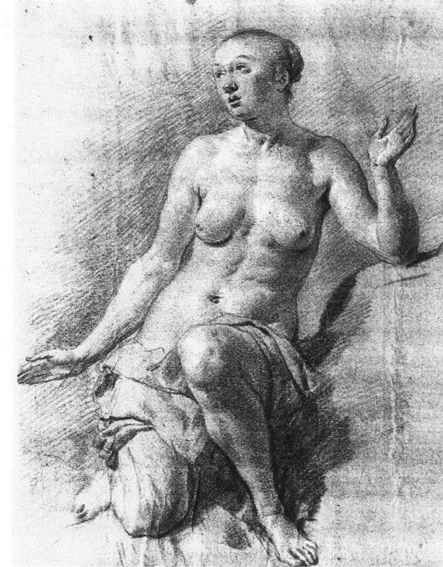 Study of a Female Nude - Adriaen van de Velde