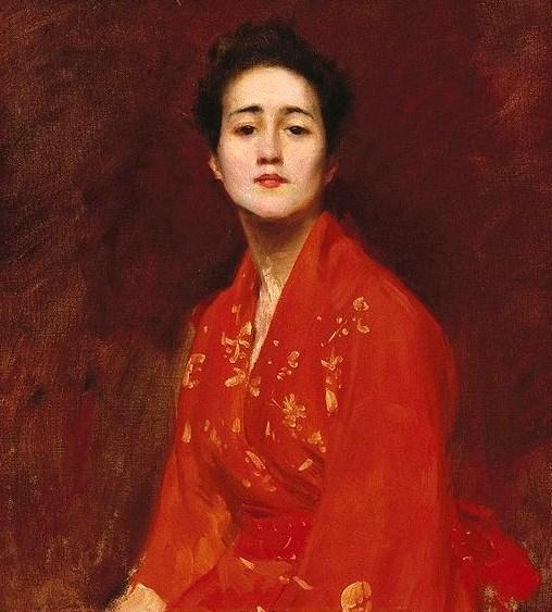 Study of a Girl in a Japanese Dress - William Merritt Chase
