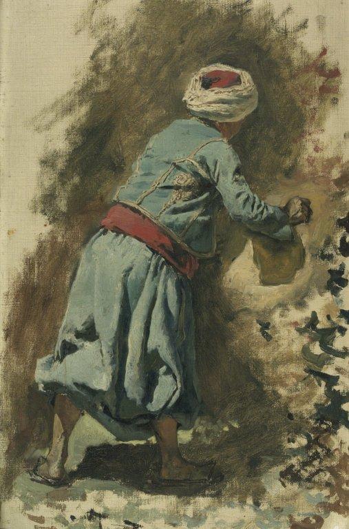 Study of a Moor in Blue - Edwin Lord Weeks