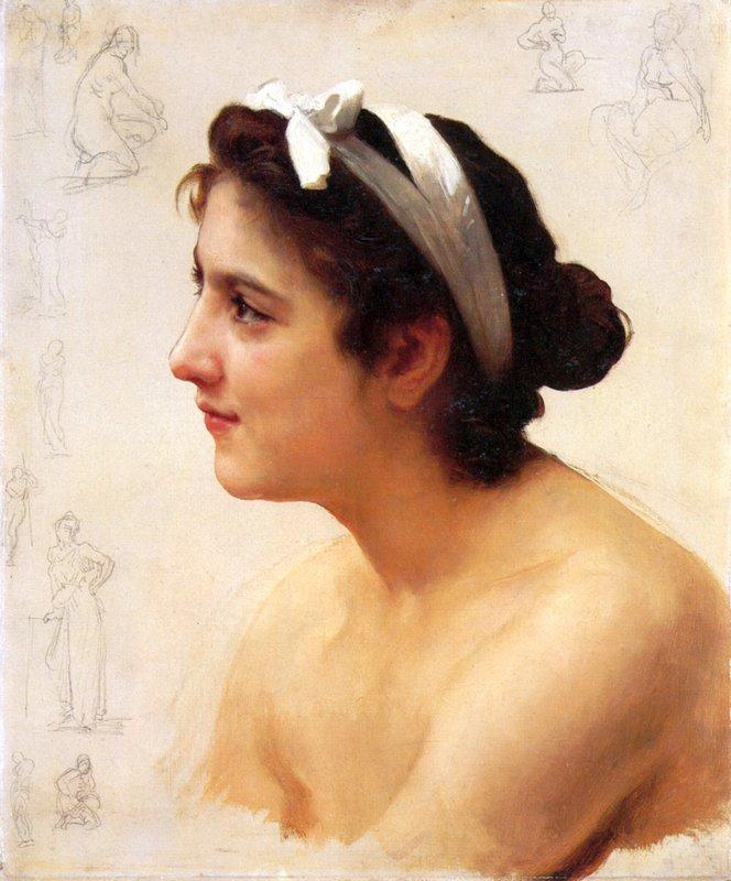 Study Of A Woman For Offering To Love - William-Adolphe Bouguereau