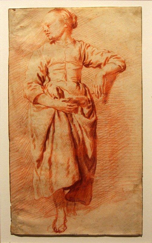 Study of a Woman in Peasant Dress - Adriaen van de Velde