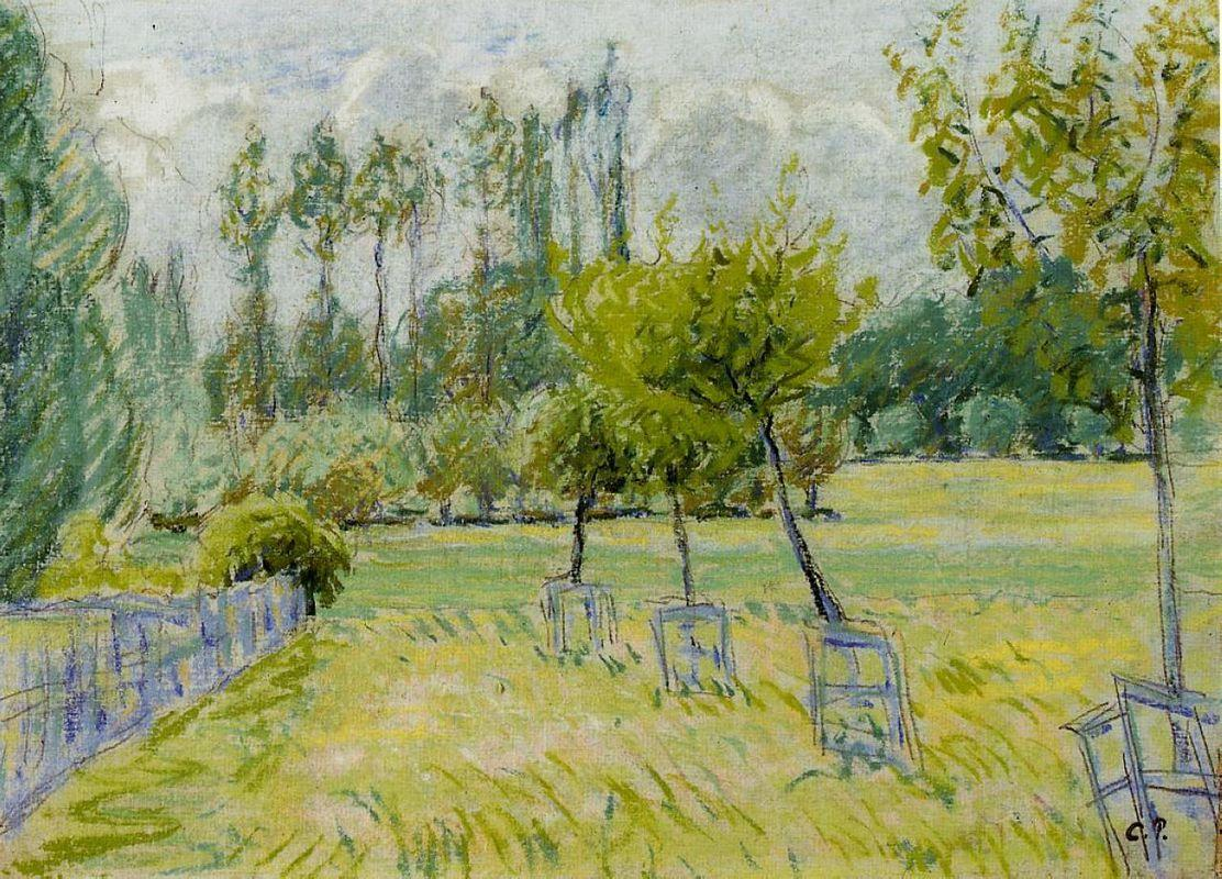 Study of Apple Trees at Eragny - Camille Pissarro