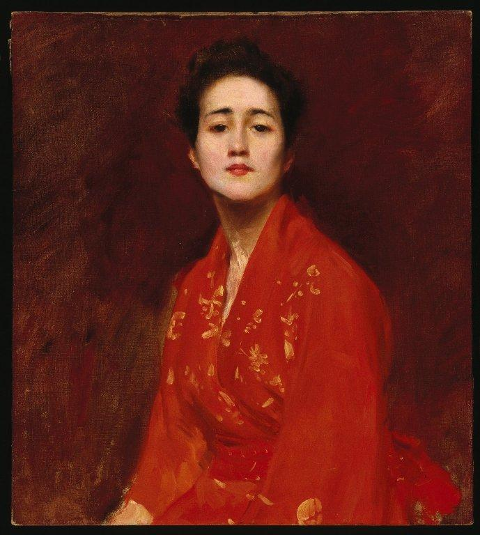 Study of Girl in Japanese Dress - William Merritt Chase