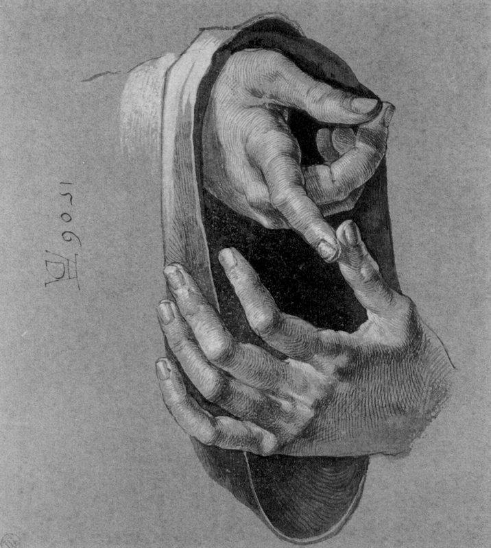 Study of Hands - Albrecht Durer