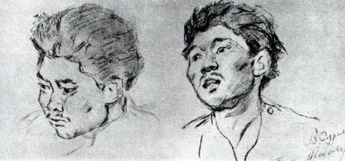 Study of khakasy - Vasily Surikov
