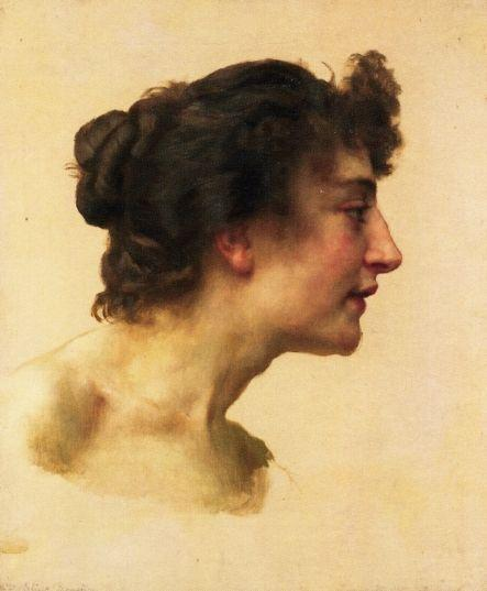 Study of the Head of Elize - William-Adolphe Bouguereau