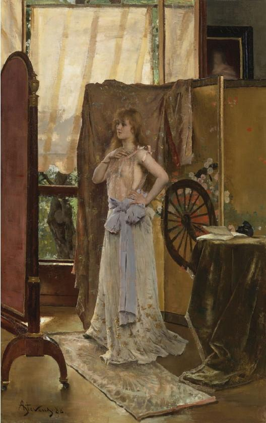 Study of the Role - Alfred Stevens