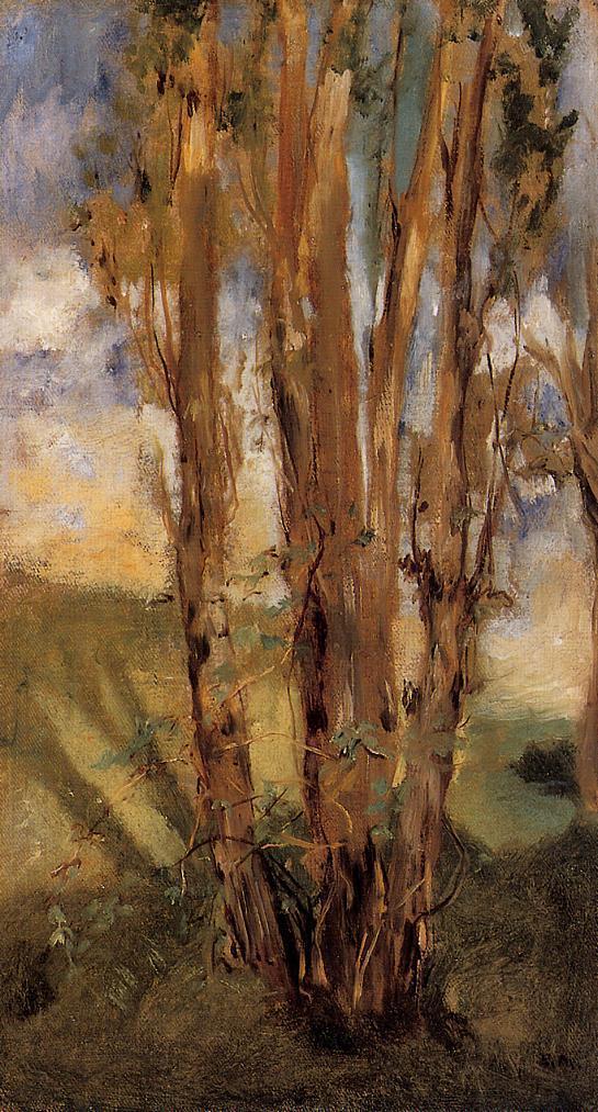 Study of trees - Edouard Manet