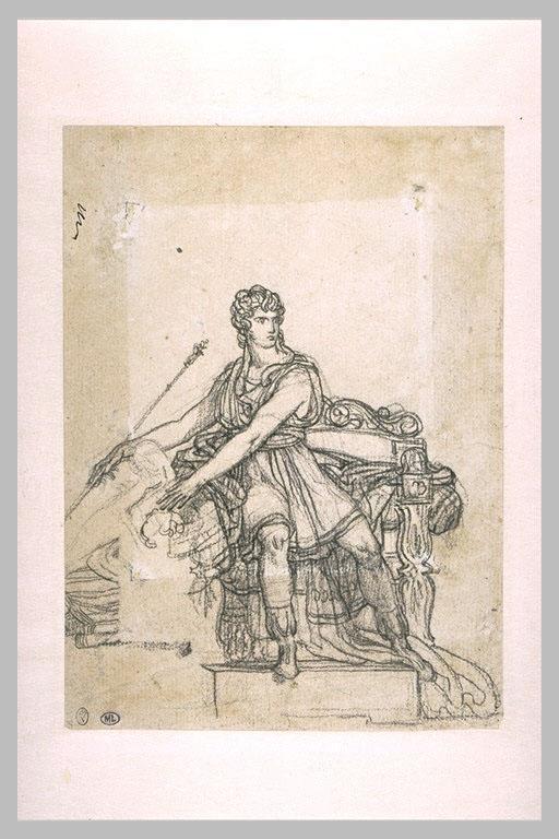 Study the figure of Pyrrhus - Pierre-Narcisse Guerin