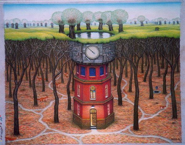 Subconscious tower - Jacek Yerka