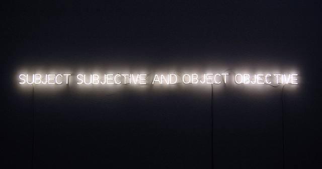 Subject and Object - Joseph Kosuth