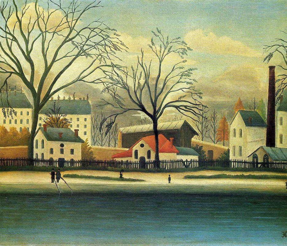 Suburban Scene - Henri Rousseau