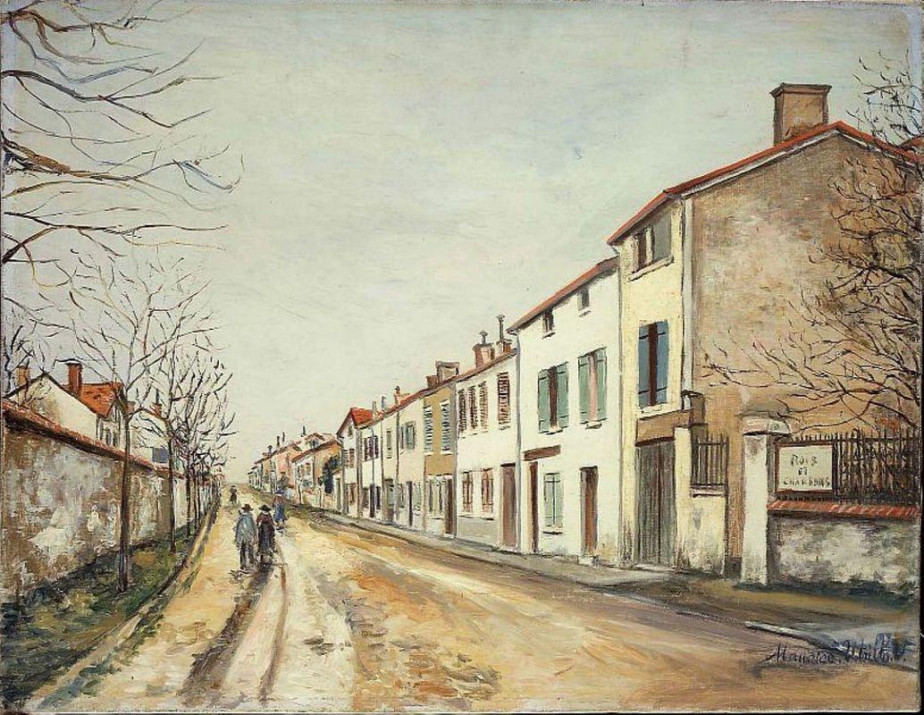 Suburban Street Scene - Maurice Utrillo
