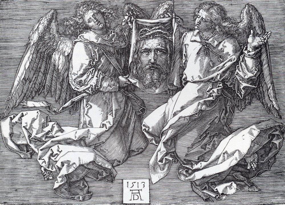 Sudarium Displayed By Two Angels - Albrecht Durer