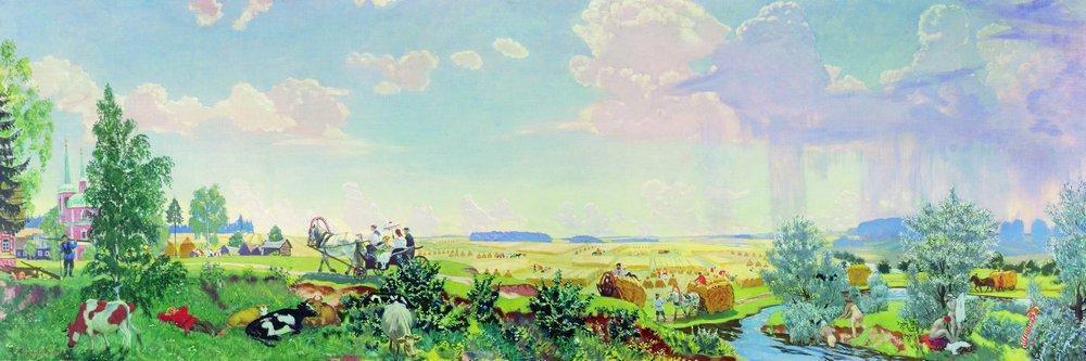 Summer (A trip to the Terem) - Boris Kustodiev