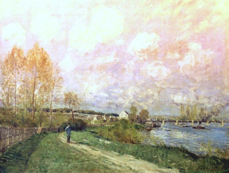 Summer at Bougival - Alfred Sisley