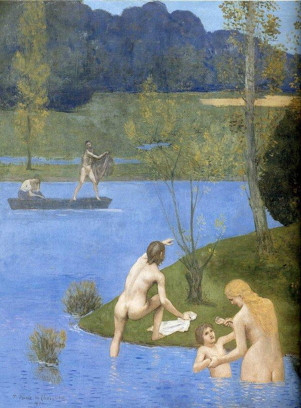 Summer (detail) - Pierre Puvis de Chavannes