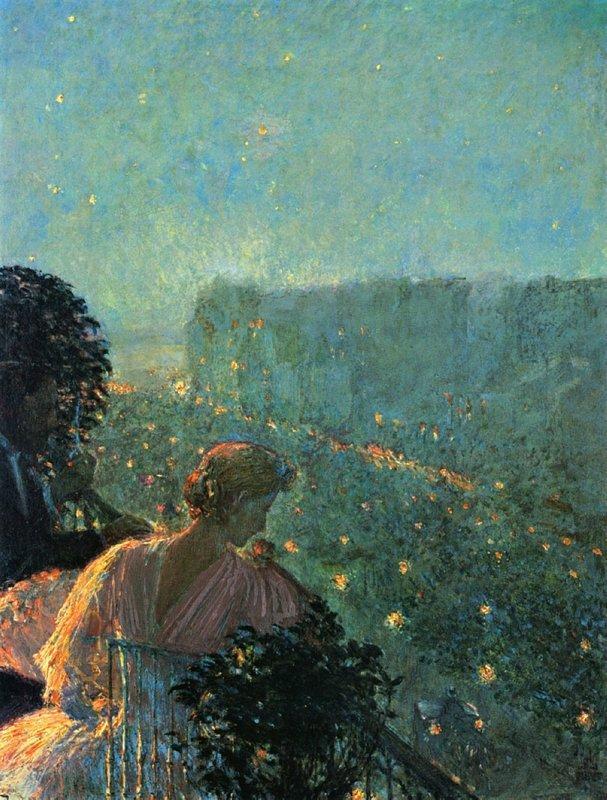Summer Evening, Paris - Childe Hassam