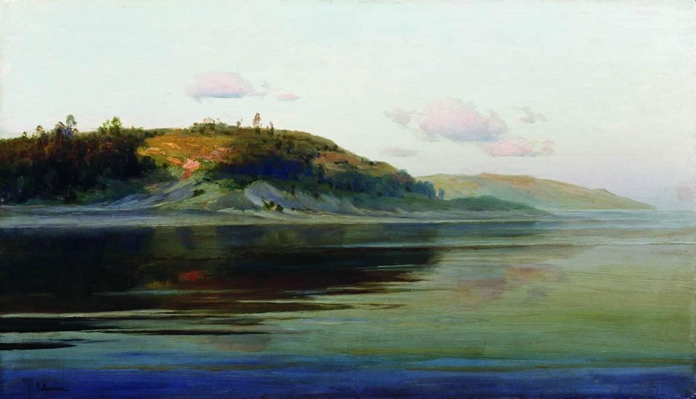 Summer evening. River. - Isaac Levitan
