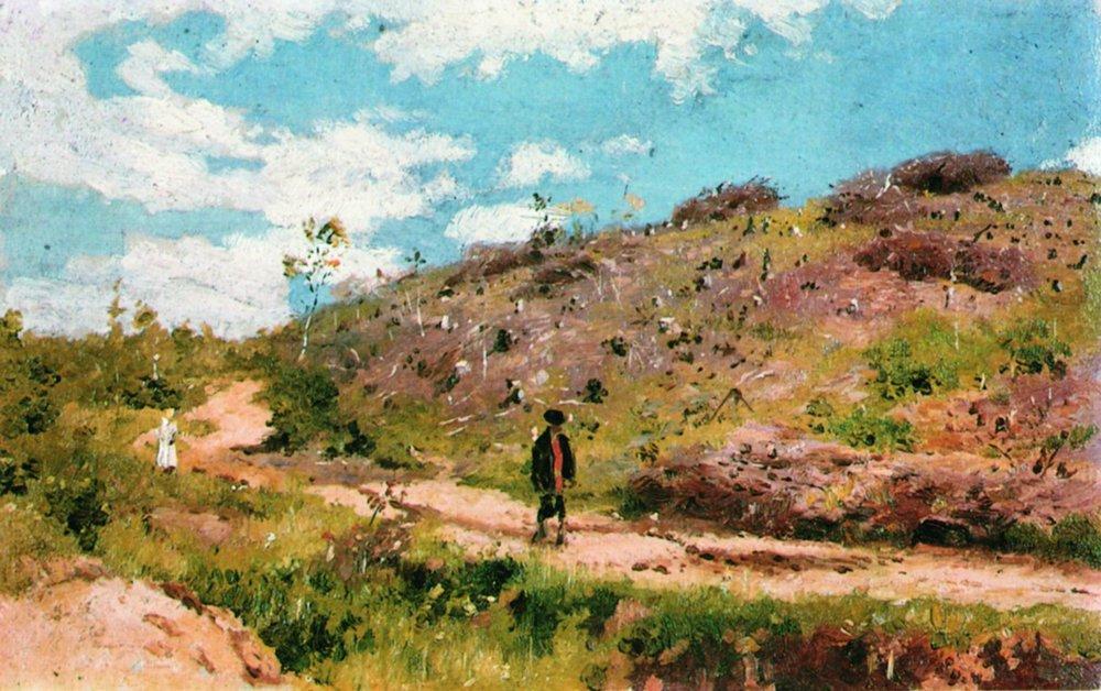 Summer landscape in Kurskaya guberniya - Ilya Repin
