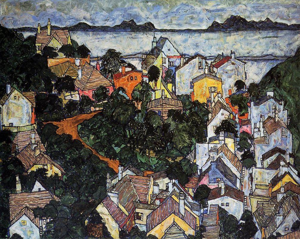 Summer Landscape, Krumau - Egon Schiele