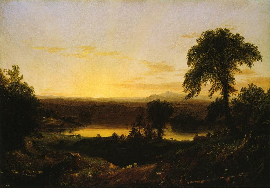 Summer Twilight. A Recollection of a Scene in New England - Thomas Cole