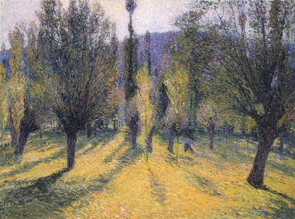 Sun through the Poplar - Henri Martin