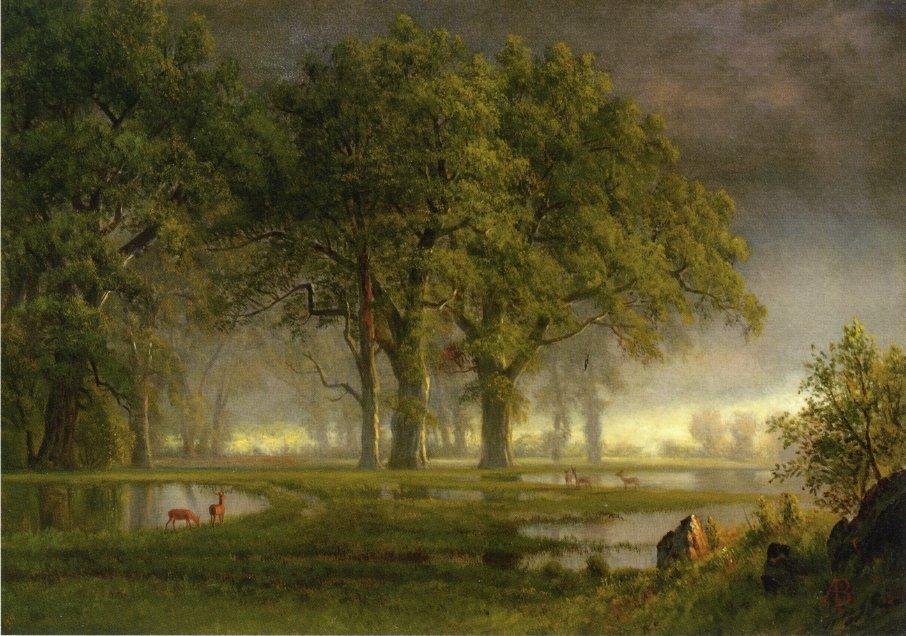 Sunglow - Albert Bierstadt