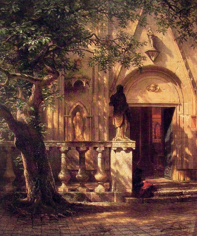 Sunlight and Shadow - Albert Bierstadt