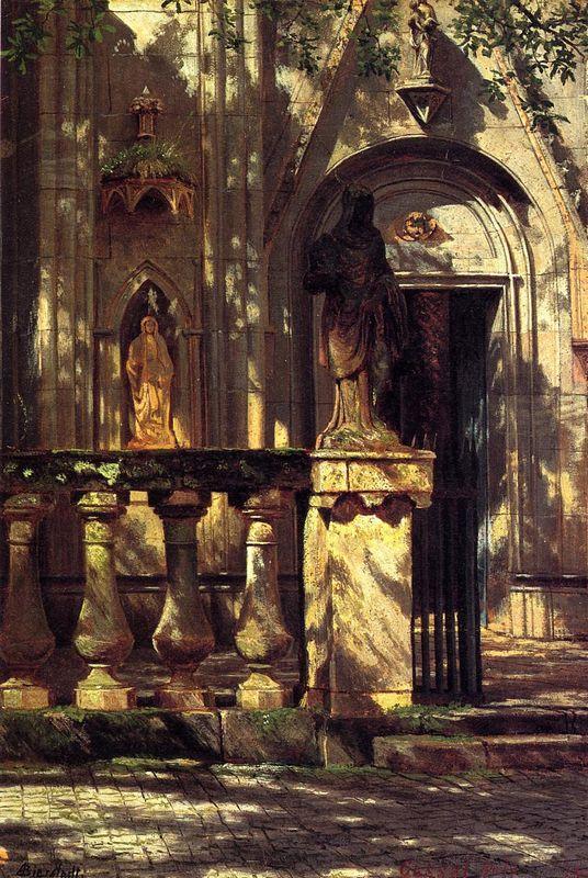 Sunlight and Shadow Study - Albert Bierstadt