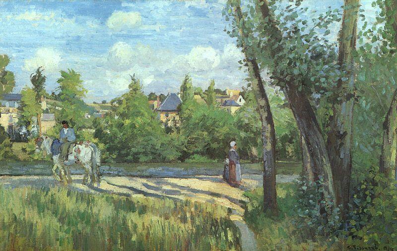Sunlight on the Road Pontoise - Camille Pissarro