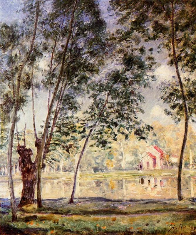 Sunny Afternoon Willows by the Loing - Alfred Sisley
