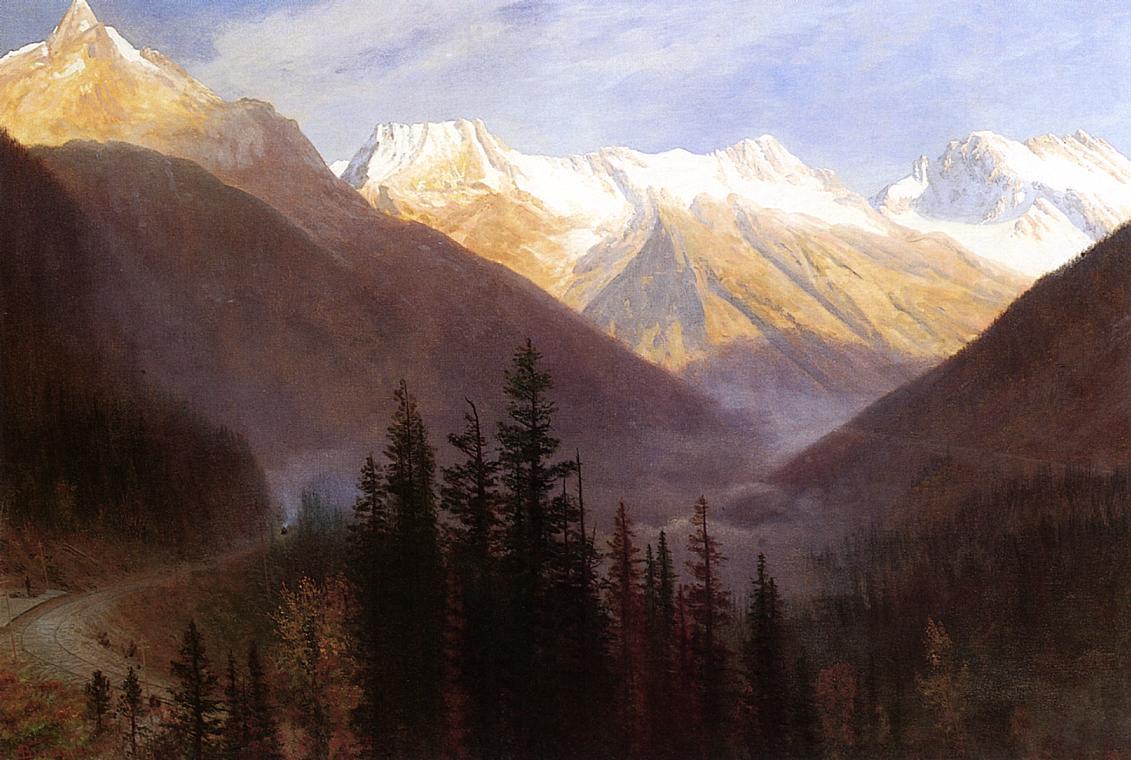 Sunrise at Glacier Station - Albert Bierstadt