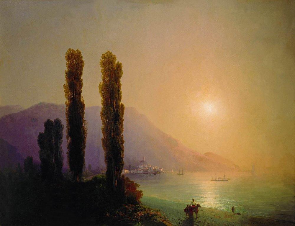 Sunrise on the coast of Yalta - Ivan Aivazovsky